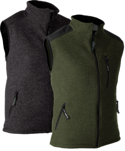 Gilet in lana cotta Stretch-AIR